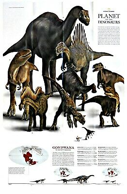 ⫸ 2007-12 December Planet of the DINOSAURS National Geographic Maps School