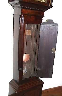 Antique 8 Day Georgian Inlaid Mahogany Longcase Clock ALEX GORDON DUBLIN 8