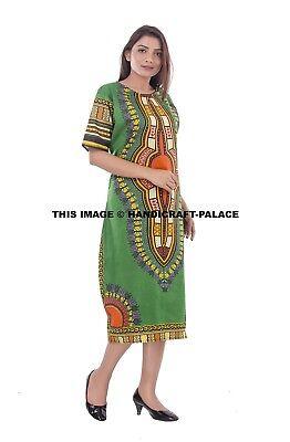 WOMEN TRADITIONAL AFRICAN Print Dashiki Dress Short Sleeve Party Tunic Plus  Size