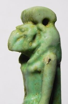 ZURQIEH -asw176- ANCIENT EGYPT , STUNNING LARGE THOTH AMULET. UPPER PART. 6