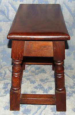 Antique Style SOLID Oak Joint Stool / Occasional Table / Lamp Stand (35) 6