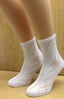 Girls Socks 6 Pairs Ankle Length Socks Pelerine Design *Uk Made* 3