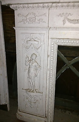 Antique Newport Rhode Island Fireplace Mantel w Figural Designs Hope & Charity 2