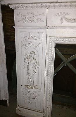Antique Newport Rhode Island Fireplace Mantel w Figural Designs Hope & Charity 2