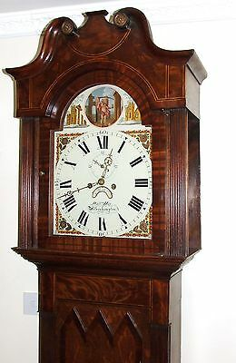 Antique ROCKING FATHER TIME Longcase Grandfather Clock : HAY WOLVERHAMPTON 3