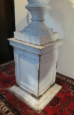 Antique 19Th Cent Victorian Monumental Cast Iron Urn W/ Decorative Mounts