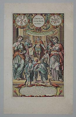 König Asa von Juda - King Asa - Rarer, anonymer Kupferstich um 1700 - Engraving