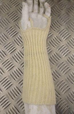 Genuine British Army Wool / Woollen Wristlets / Fingerless Gloves - BRAND NEW 3