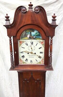 ~ Antique Mahogany ROCKING SEESAW Longcase Grandfather Clock GARMAN MEONSTOKE 4
