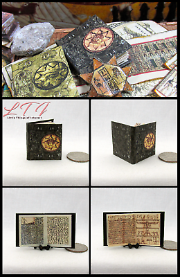 BOOK OF THE DEAD Illustrated Miniature Book Dollhouse 1:12 Scale Black Egyptian 3