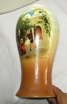 Vintage UK Empire Ware 1930s porcelain hand painted Vase H26cm 6