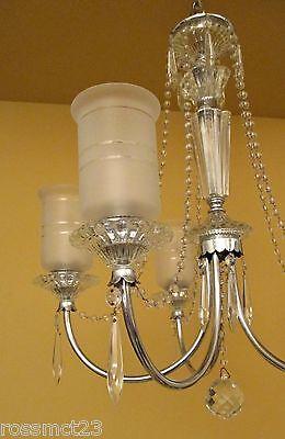Vintage Lighting all original 1940s crystal chandelier 4