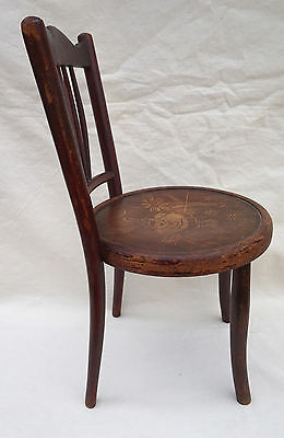 Art Nouveau Child Chair Fichel Bentwood Print Seating Factory Label 4