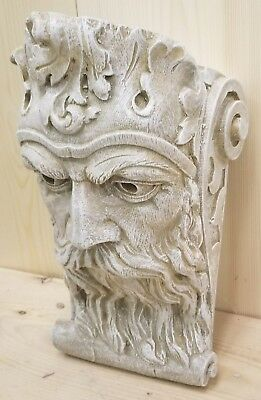 Bearded Man Wall Corbel Bracket Shelf Architectural Accent Home Decor 2