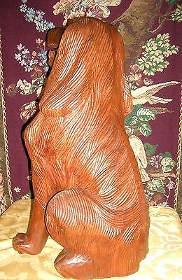 Antique Beautifully Carved and Detailed Mahogany Fireplace Dogs (2) 4