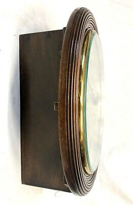 National Provincial Bank CHAIN Fusee Mahogany Wall Clock SIR JOHN BENNETT LONDON 6
