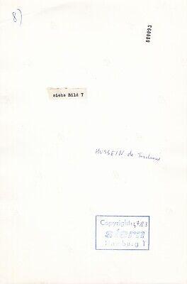 "Roi Hussein De Jordanie Copyright ""stern"" Circa 1963 #04 2"