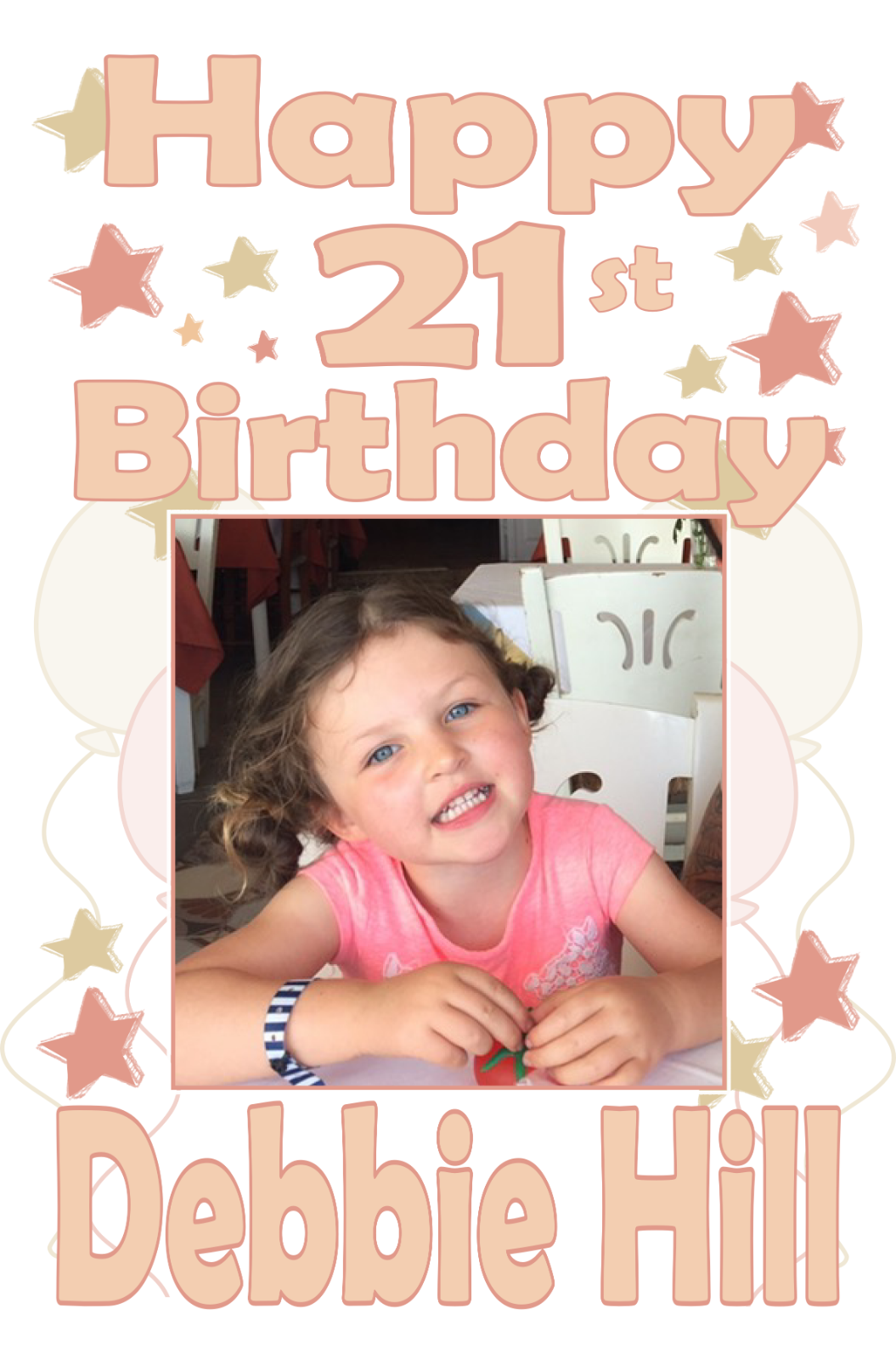Large Personalised Birthday Poster Banner Photo Rose Gold Any Age 18th 21st 30th