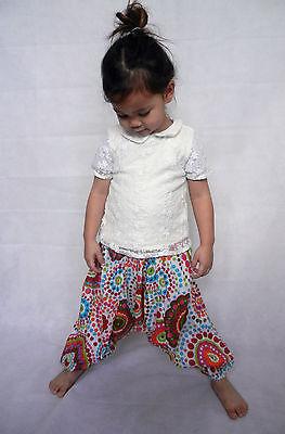 Girls boys harem pants baggy summer hippy boho trousers 3,4,5,6,7 years 2