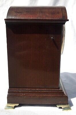 Antique W&H Winterhalder Hofmeier Bracket Mantel Clock Robert Jones Liverpool 4