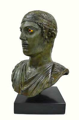 Charioteer of Delphi sculpture marblebased real size Great bronze statue bust 3