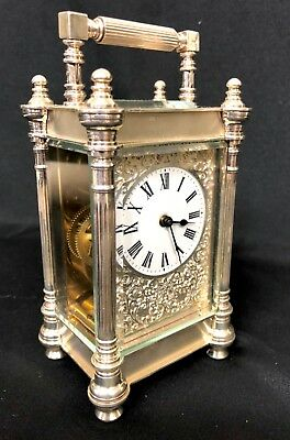 Limited Edition Sterling Silver Vintage Carriage Clock Charles Frodsham London 3