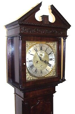 Antique 8 Day Georgian Inlaid Mahogany Longcase Clock ALEX GORDON DUBLIN 4