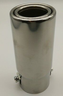 55 mm SPORTS Exhaust Muffler Universal Steel Tail Pipe Trim Tip Racing sound