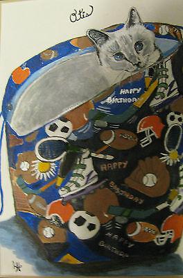 "C175   Original Acrylic Painting By Ljh        ""Pixie Bob""    Cat  Kitten 8"