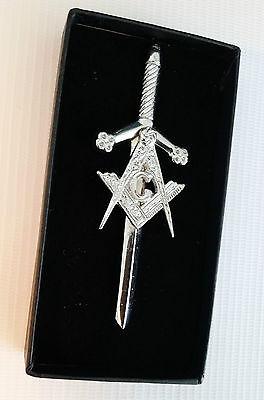 Chrome Finish Masonic Gift Boxed Scottish Kilt Pin 4 Kilts  Sale Price 2