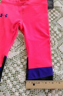 NWT UNDER ARMOUR Girl's Crop Pant Leggings Pink Size 4 Retail $27 5