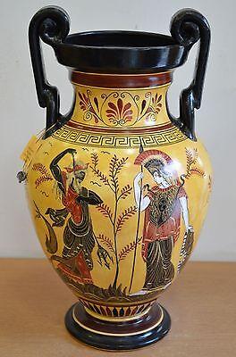 Achilles - Poseidon & Goddess Athena - Amphora Vase - Museum Replica 3