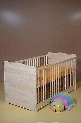 Kinderbett Baby-Juniorbett 2 in1 UMBAUBAR 5 Farben Komplett-Set VollMassivholz 2