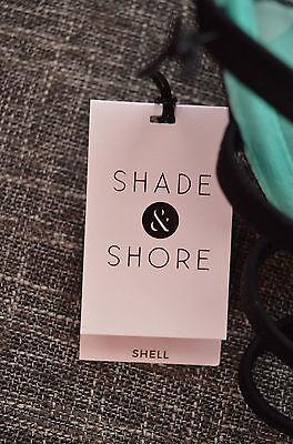 Shade & Shore Shell Push Up Halter Bikini in Black Tropical VARIOUS SIZES 6