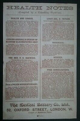 Victorian Electropathic Belts Leaflet ******(See Description For Details)****** 8