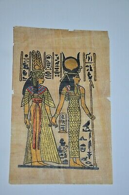 old painting papyrus Egyptian Beautiful antique ancient Unique Extremely rare 12