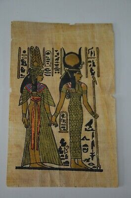old painting papyrus Egyptian Beautiful antique ancient Unique Extremely rare 2