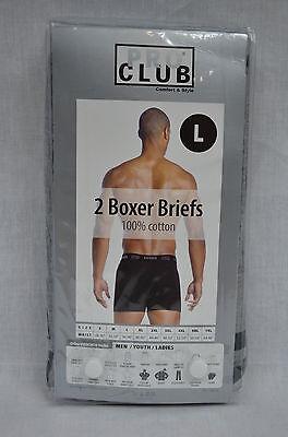 2 New Proclub Boxer Briefs Black/Gray Men Underwear Shorts Pro Club S-7Xl 2Pc 2
