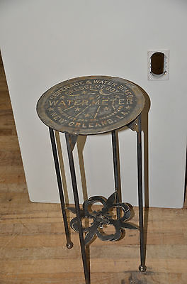 GENUINE CUSTOM NEW ORLEANS CRESCENT CITY WATER METER COVER TABLE FRENCH QUARTER