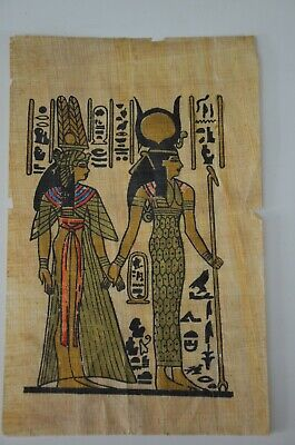 old painting papyrus Egyptian Beautiful antique ancient Unique Extremely rare 3