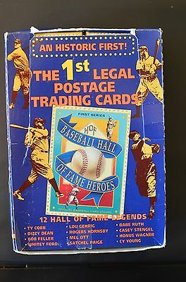 1992 Baseball Hall of Fame Heroes postage cards (Ty Cobb, Babe Ruth) 3