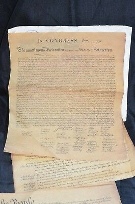 3 Documents Of Freedom on Parchment Paper Independence Hall PHIL Vintage 1956 5