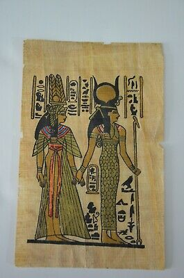 old painting papyrus Egyptian Beautiful antique ancient Unique Extremely rare 10