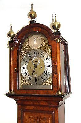 Antique Walnut  MONTH DURATION Longcase Grandfather Clock Etherington LONDON 4