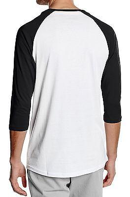 d14b92114cc77b 1 of 2 VANS New Mens Classic Logo Long Sleeve Raglan T-Shirt Print Top Tee  Black White