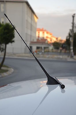 RENAULT BLACK RUBBER REPLACEMENT AM//FM AERIAL ANTENNA ROOF MAST 24cm