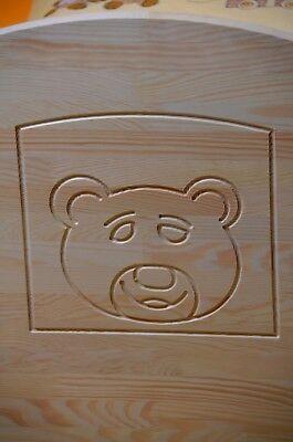 Babybett Gitterbett Kinderbett Komplet Set 70x140 UMBAUBAR 5 Farben Schublade 9