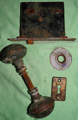 Antique Eastlake Brass Door Knobs Orbin Hardware Locksets Victorian BIN Save $$ 4