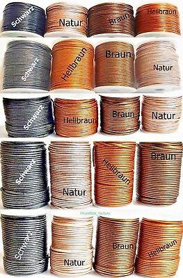 Lederband 1-3 mm Ø Rund Lederschnur Länge/Farbe/Durchmesser wählbar TOP Qualität 3