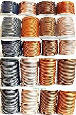 Lederband 1-3 mm Ø Rund Lederschnur Länge/Farbe/Durchmesser wählbar TOP Qualität 2